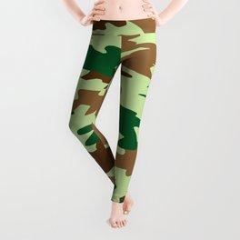 Camouflage Print Pattern - Greens & Browns Leggings