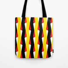 Droplet pattern - black, yellow, red Tote Bag
