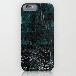 Dark Teal Van Gogh Trees & Underwood iPhone Case
