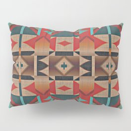 Native American Indian Tribal Mosaic Rustic Cabin Pattern Pillow Sham