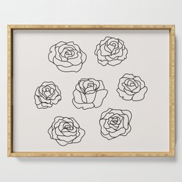 7 of Roses Serving Tray