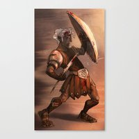gladiator Canvas Prints featuring Gladiator by normalitea