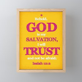 TRUST and not be afraid Framed Mini Art Print