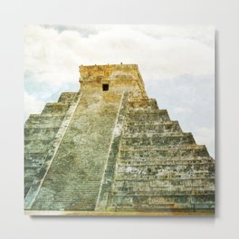 Chichen Itza pyramid Metal Print