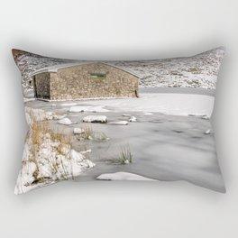 Frozen Lake Snowdonia Rectangular Pillow