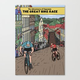 The Adventures of Capeman - The Great Bike Race Canvas Print