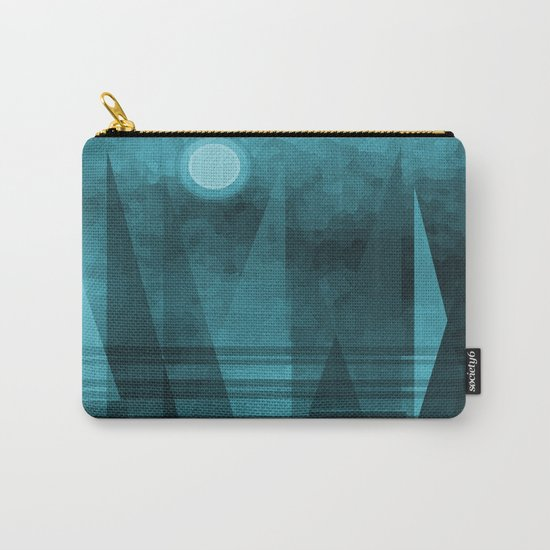 Blue Moonlight Sail Carry-All Pouch
