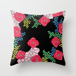 love and flower Throw Pillow