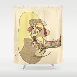Cigar Man Shower Curtain