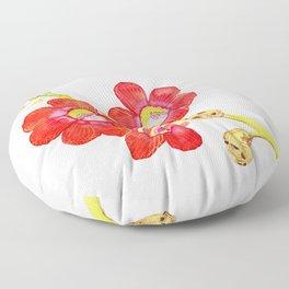 Cannonball tree flower Floor Pillow