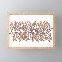 Homosexual tendencies Framed Mini Art Print