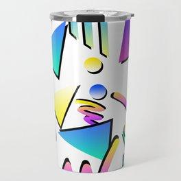Memphis style 80's arcade retro geometric pattern Travel Mug