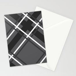 Jumbo Scale Men's Plaid Pattern Stationery Cards