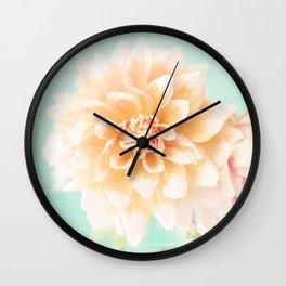 Flower Peachy Bloom Wall Clock