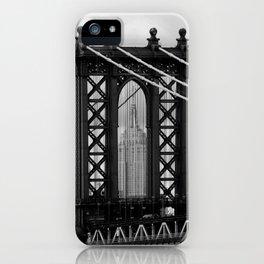 new york city ... manhattan bridge trilogy II iPhone Case