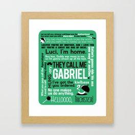 Supernatural - Gabriel Quotes Framed Art Print
