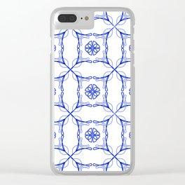 Azulejo Luso - Portuguese Tiles Clear iPhone Case