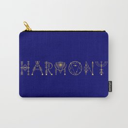 Harmony in Sacred Geometry Letters Gold Carry-All Pouch
