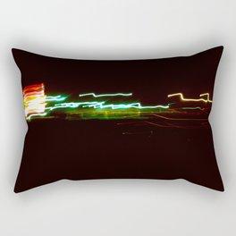 Night Lights Santa Monica Holiday Inn Rectangular Pillow