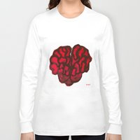 brain Long Sleeve T-shirts featuring Brain by Myles Hunt