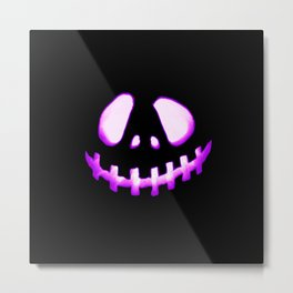 halloween. Jack O Lantern Purple Metal Print