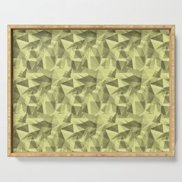 Abstract Geometrical Triangle Patterns 3 VA Lime Green - Lime Mousse - Bright Cactus Green - Celery Serving Tray