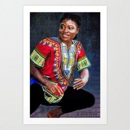 African Dancer Art Print