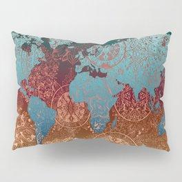 world map mandala vintage Pillow Sham