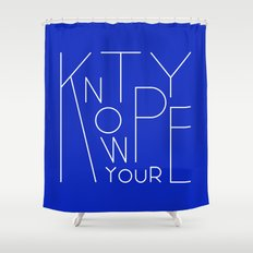 Know your type Shower Curtain