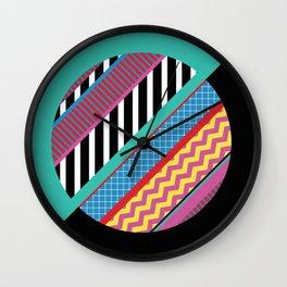 Geometric Full Moon Wall Clock