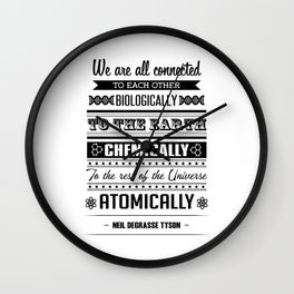 We Are All Connected (Black) Wall Clock