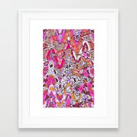 fringe Framed Art Prints featuring Fringe by Ingrid Padilla