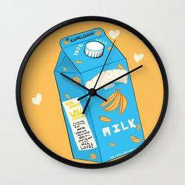 Banana Milk Wall Clock