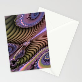 The feel of movement, digital abstract Stationery Cards
