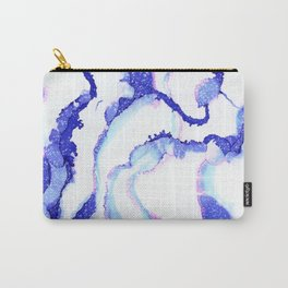 Flowing Indigo Carry-All Pouch