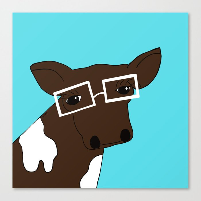 Matilda the Hipster Cow Canvas Print