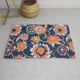 Bold Chinoiserie Floral - Limited Color Palette 2019 Rug