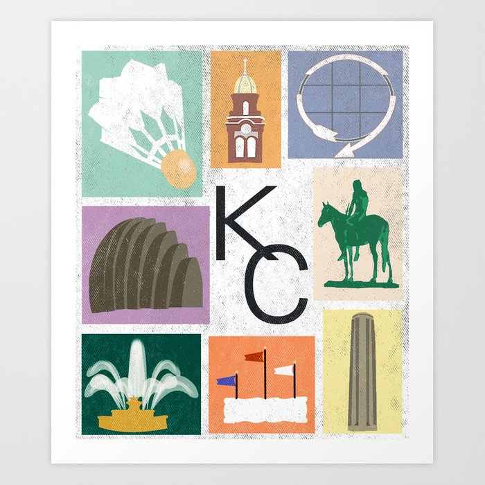 Kansas City Landmark Print Kunstdrucke
