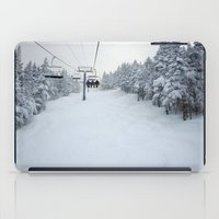 skiing iPad Cases featuring Skiing Vermont by BACK to THE ROOTS