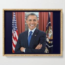 official portrait of Barack Obama Serving Tray