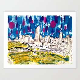 BRISBANE POSTCARD SERIES 020 Art Print