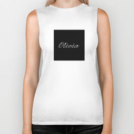 Olivia in Silver Biker Tank