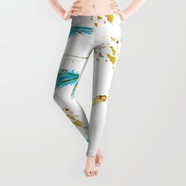 Peacocks a sparkle Leggings