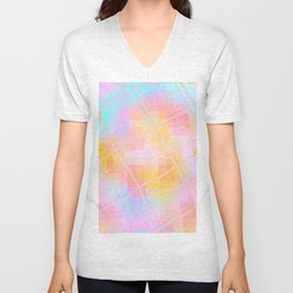 Re-Created Twisted SQ XIX by Robert S. Lee Unisex V-Neck