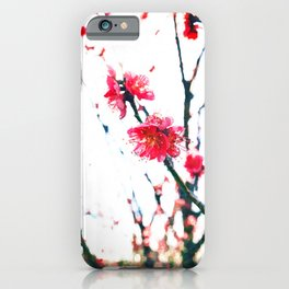 Cherry pink blossoms watercolor painting #7 iPhone Case