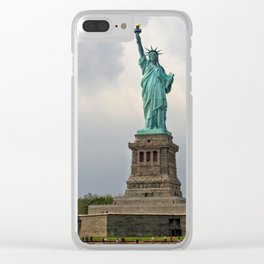 Miss Liberty Clear iPhone Case