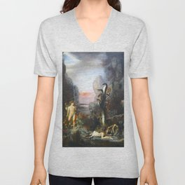 The Lernaean Hydra by Gustave Moreau (1876) Unisex V-Neck