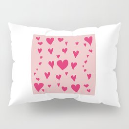 Imperfect Hearts - Pink/Pink Pillow Sham
