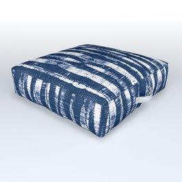 Shibori Stripes Indigo Blue Outdoor Floor Cushion