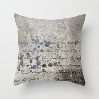 letter Throw Pillows featuring LETTER by ED design for fun